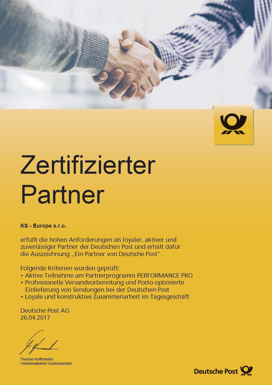 Zertifizierter Partner der Deutschen Post